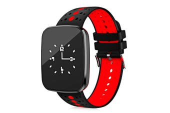 """Bluetooth V4.0 Smart Watch Heart Rate Blood Pressure Ip67 0.96"""" Oled - Red"""