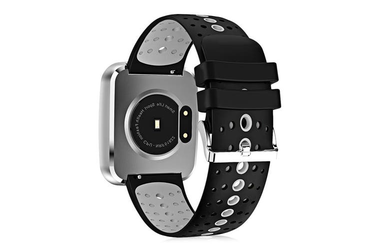 """Bluetooth V4.0 Smart Watch 0.96"""" Oled Heart Rate Blood Pressure Ip67 White"""