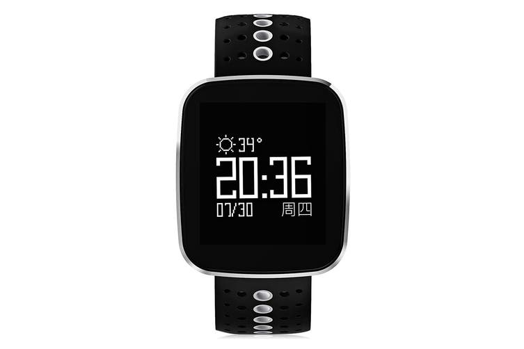 "Bluetooth V4.0 Smart Watch Heart Rate Blood Pressure Ip67 0.96"" Oled - White"