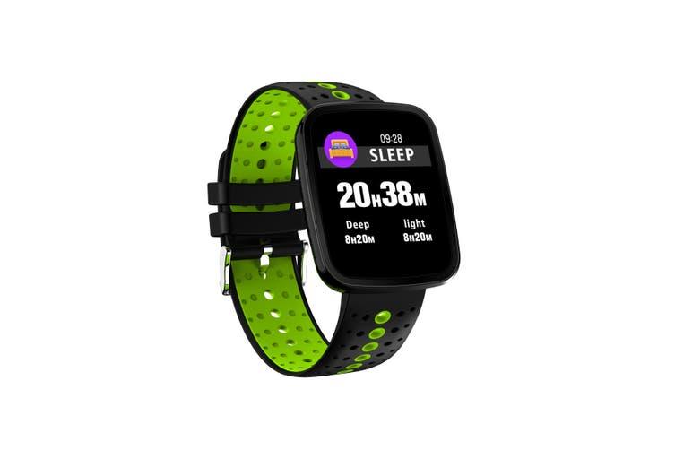 "Bluetooth V4.0 Smart Watch 0.96"" Oled Heart Rate Blood Pressure Ip67 Green"