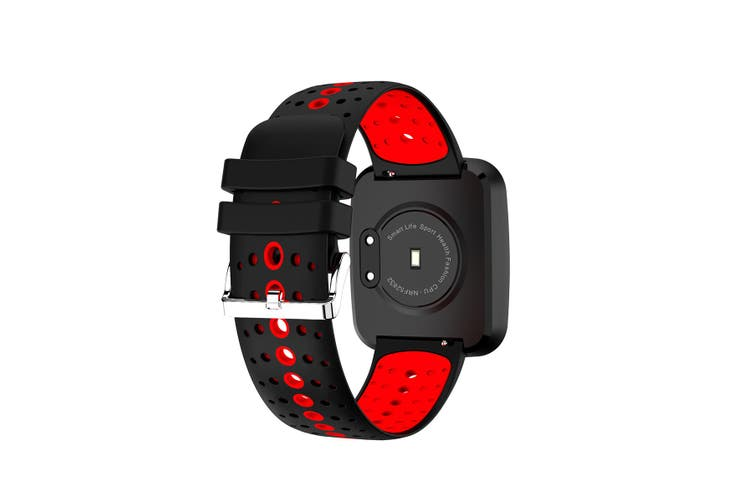 "Bluetooth V4.0 Smart Watch 0.96"" Oled Heart Rate Blood Pressure Ip67 Red"