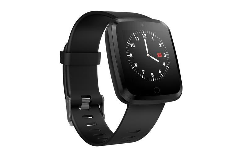 "Bluetooth V4.0 Smart Watch 0.96"" Oled Heart Rate Blood Pressure Ip67 Black Band"