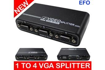 1 To 4 Port Vga Splitter High Resolution Support 1920 X 1440 550Mhz 50M 2/4 Port