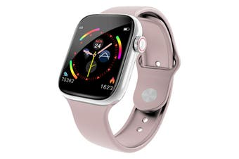 "Bluetooth V4.0 Smart Watch Heart Rate Blood Pressure Oxygen 1.3"" IPS LCD IP67 - Pink"