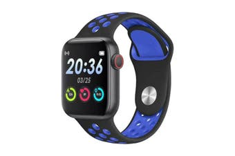 "Bluetooth V4.2 Smart Watch Heart Rate Blood Pressure Oxygen 1.54"" IPS LCD IP67 - Blue"