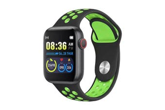 "Bluetooth V4.2 Smart Watch Heart Rate Blood Pressure Oxygen 1.54"" IPS LCD IP67 - Green"