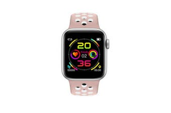"Bluetooth V4.2 Smart Watch Heart Rate Blood Pressure Oxygen 1.54"" IPS LCD IP67 - Pink"