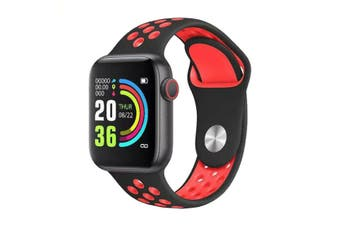 "Bluetooth V4.2 Smart Watch Heart Rate Blood Pressure Oxygen 1.54"" IPS LCD IP67 - Red"
