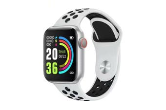 "Bluetooth V4.2 Smart Watch Heart Rate Blood Pressure Oxygen 1.54"" IPS LCD IP67 - White"