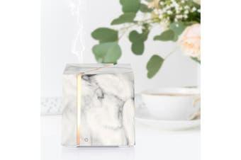 200Ml Marble Grain Aromatherapy Diffuser Aroma Diffuser Ultrasonic Led Humidifier - White