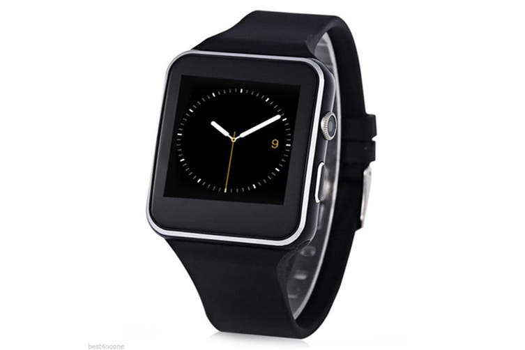 """Bluetooth V3.0 Smart Watch 1.54"""" Ips Hd Lcd Rechargeable Handsfree Call - Black"""