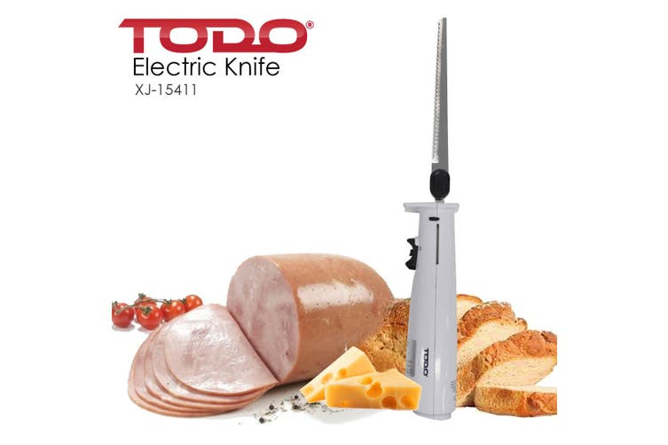 Electric Knife Carving Tool Slicer Electromotion Reamer Meat Bread Cheese Black