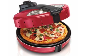 TODO 1200W Electric Pizza Maker 30Cm 360° Rotating Base Plate Xj-6K205 Red