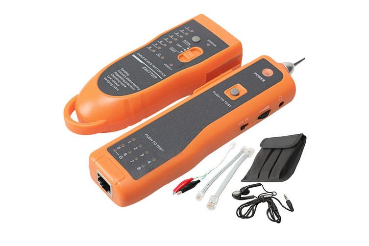 Network Wire Cable Tracker Line Tester W/ Tone Generator Amplifier Probe Xq-350