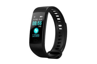 "Bluetooth V4.0 Fitness Band Watch Heart Rate Blood Oxygen Ip67 0.96"" Oled - Black"