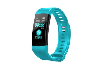 """Bluetooth V4.0 Fitness Band Watch Heart Rate Blood Oxygen Ip67 0.96"""" Oled - Blue"""