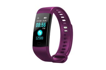 "Bluetooth V4.0 Fitness Band Watch Heart Rate Blood Oxygen Ip67 0.96"" Oled - Purple"