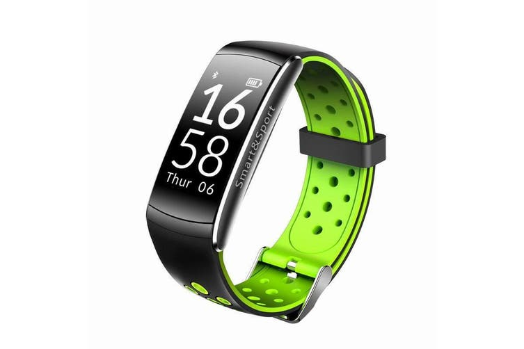 "Bluetooth V4.0 Smart Watch 0.96"" Oled Heart Rate Blood Pressure Ip68 Green"