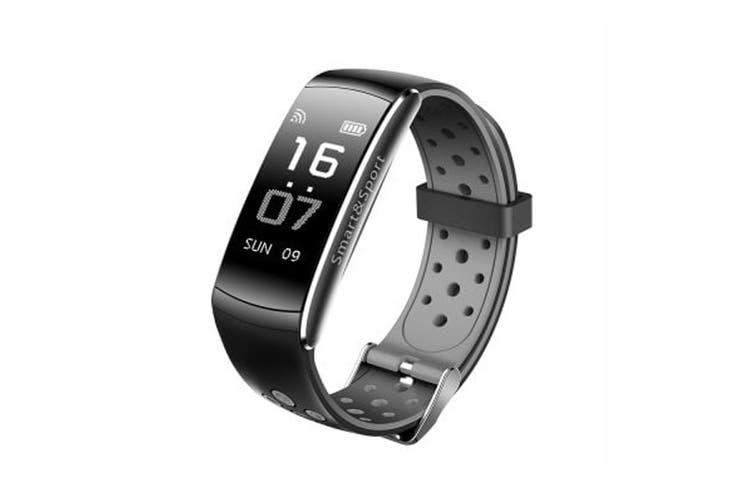 "Bluetooth V4.0 Smart Watch 0.96"" Oled Heart Rate Blood Pressure Ip68 Grey"