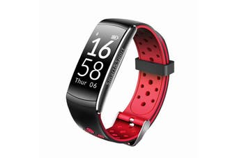 """Bluetooth V4.0 Smart Watch 0.96"""" Oled Heart Rate Blood Pressure Ip68 Red"""
