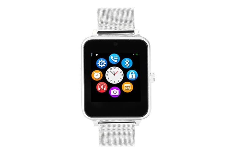 "Bluetooth V3.0 Smart Watch 1.54"" Tft Lcd Rechargeable Anti Lost Call - Silver"