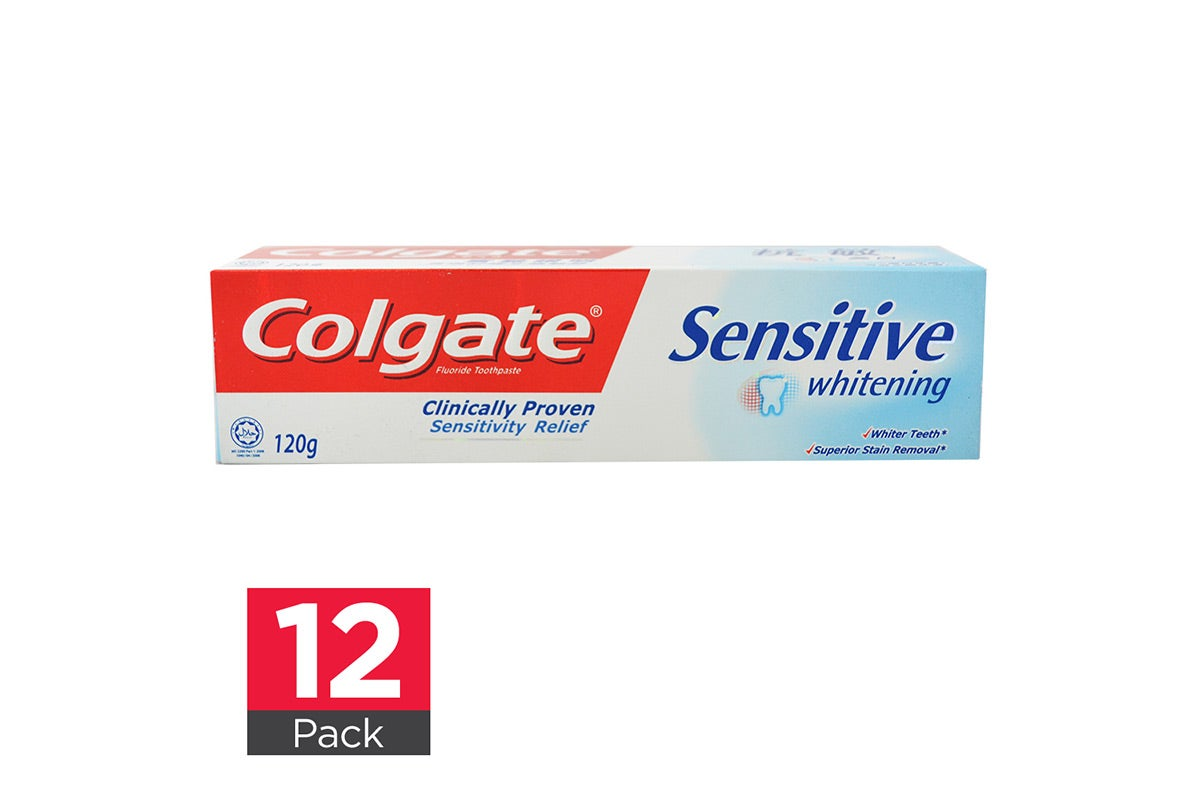 12x Colgate Toothpaste Sensitive Whitening 120g