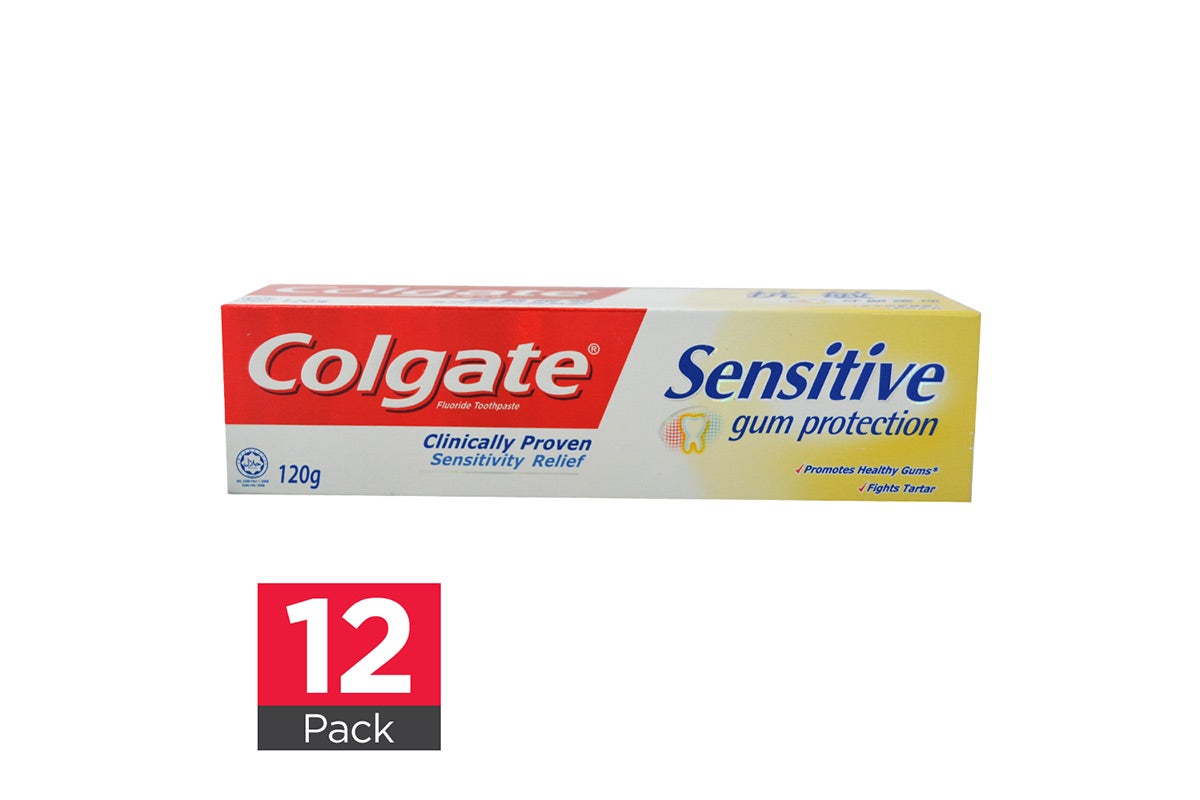 12x Colgate Toothpaste Sensitive Gum Protection 120g