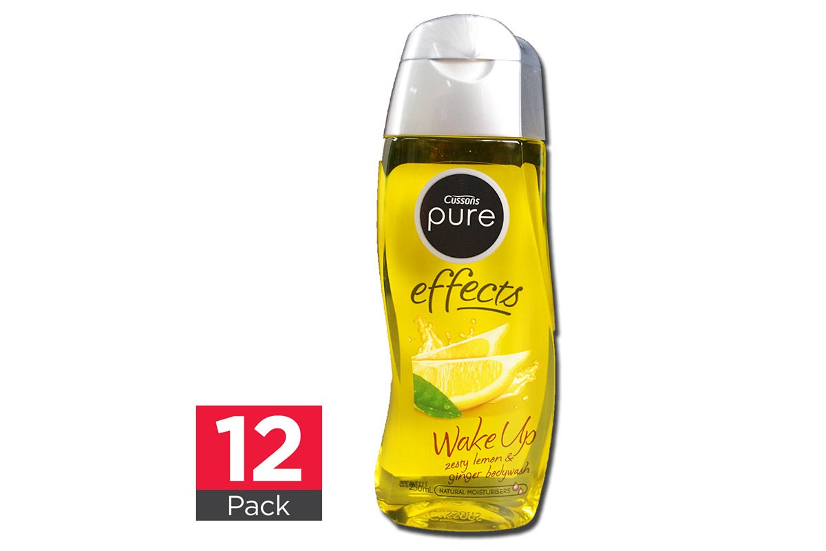 12x Cussons Body Wash Zesty Lemon and Ginger 250mL
