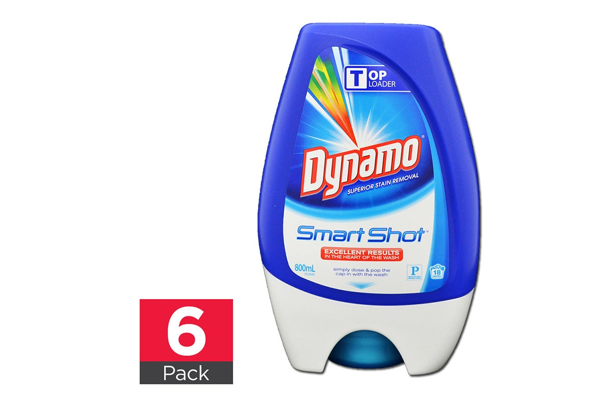 6x Dynamo Laundry Liquid Smart Shot Top Loader 800mL