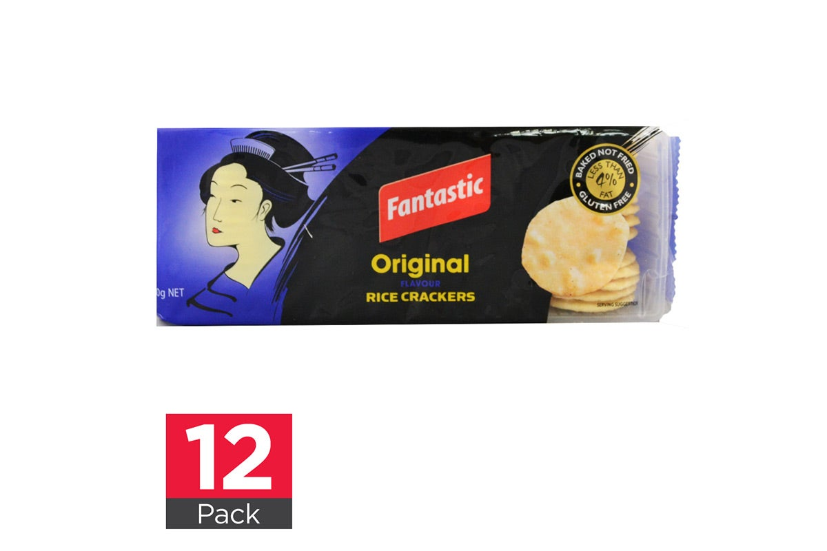 12x Fantastic Rice Crackers Original 100g