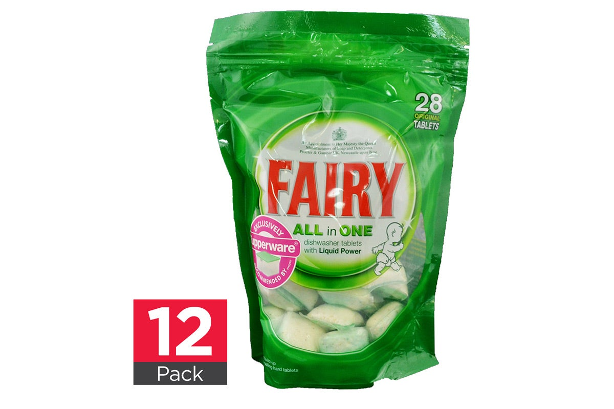 12x Fairy Dishwashing Tablets All in One Original 28pk