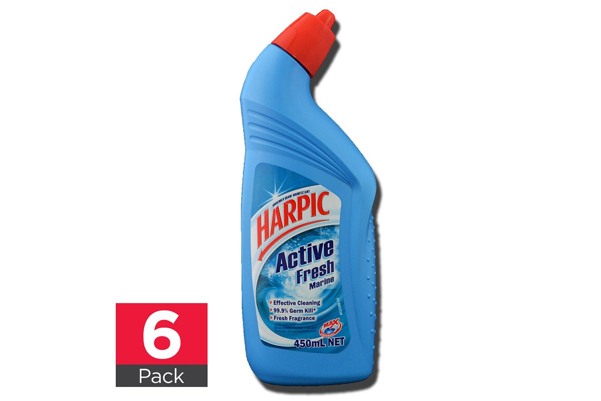 6x Harpic Toilet Cleaner Active Fresh Marine 450mL