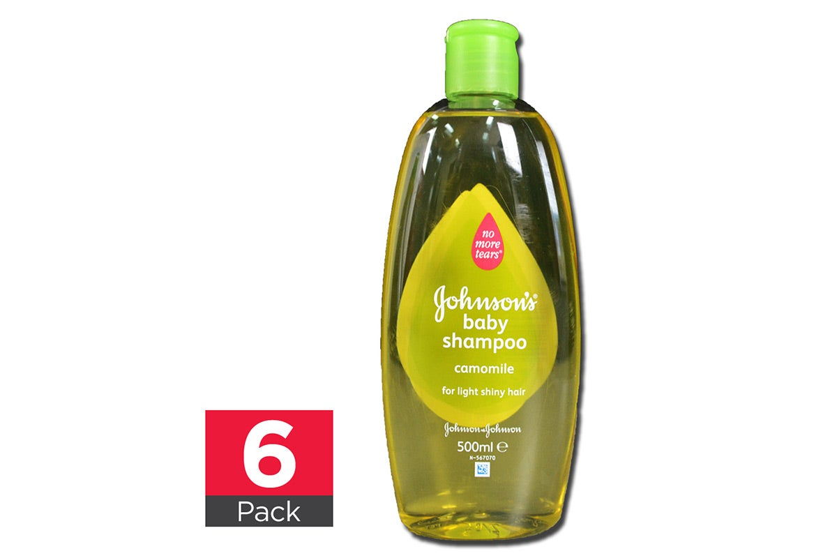 6x Johnsons Shampoo Camomile 500ml each