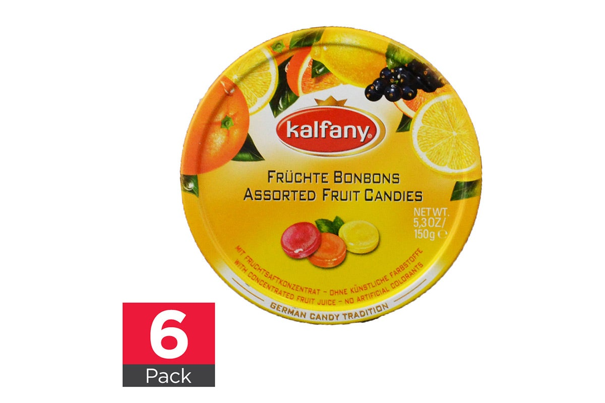 6x Kalfany German Candy Tradition Assorted Fruit Candies 150g