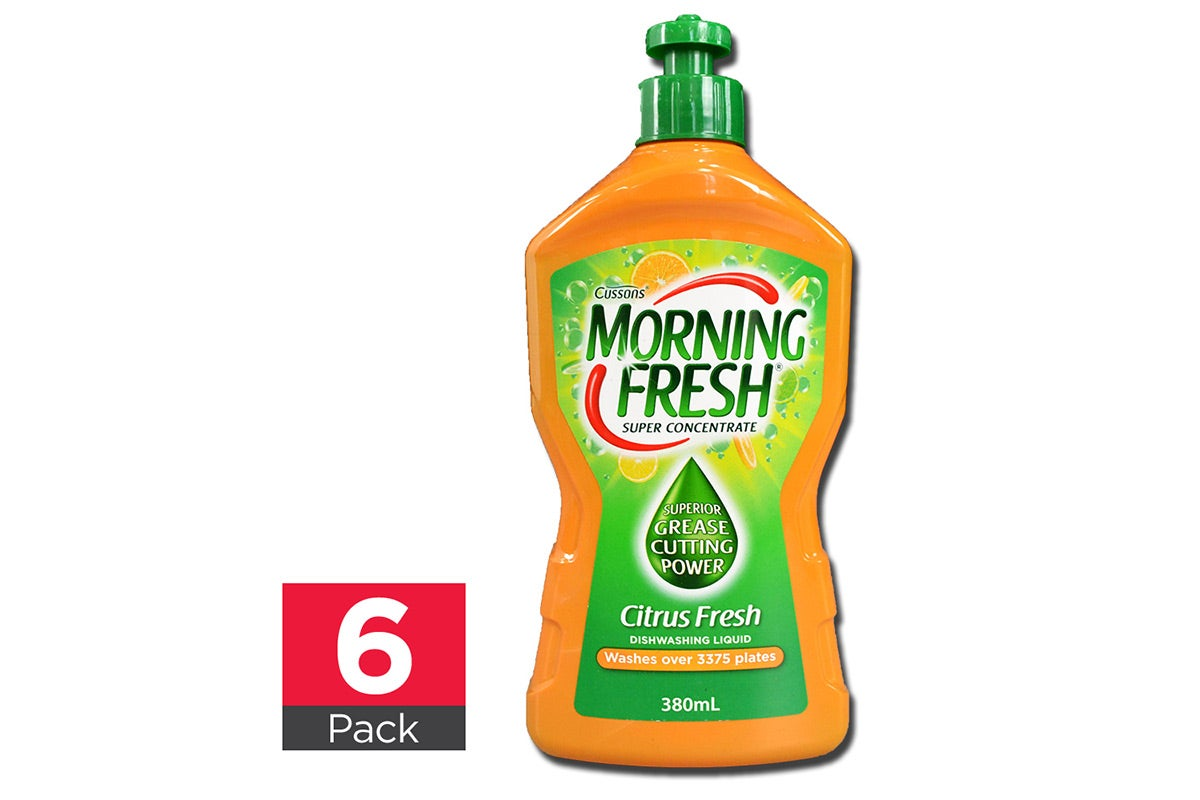 6x Morning Fresh Dishwashing Liquid Citrus Fresh 380mL