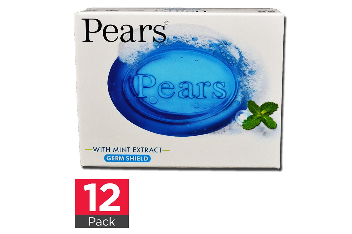 12x Pears Soap with Mint Extract Germ Shield 75g