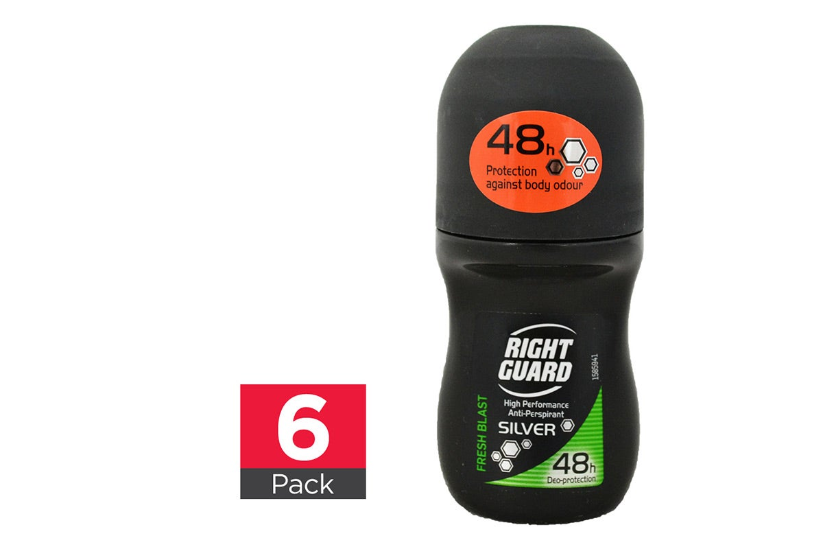 6x Right guard Fresh Blast Roll On 50mL