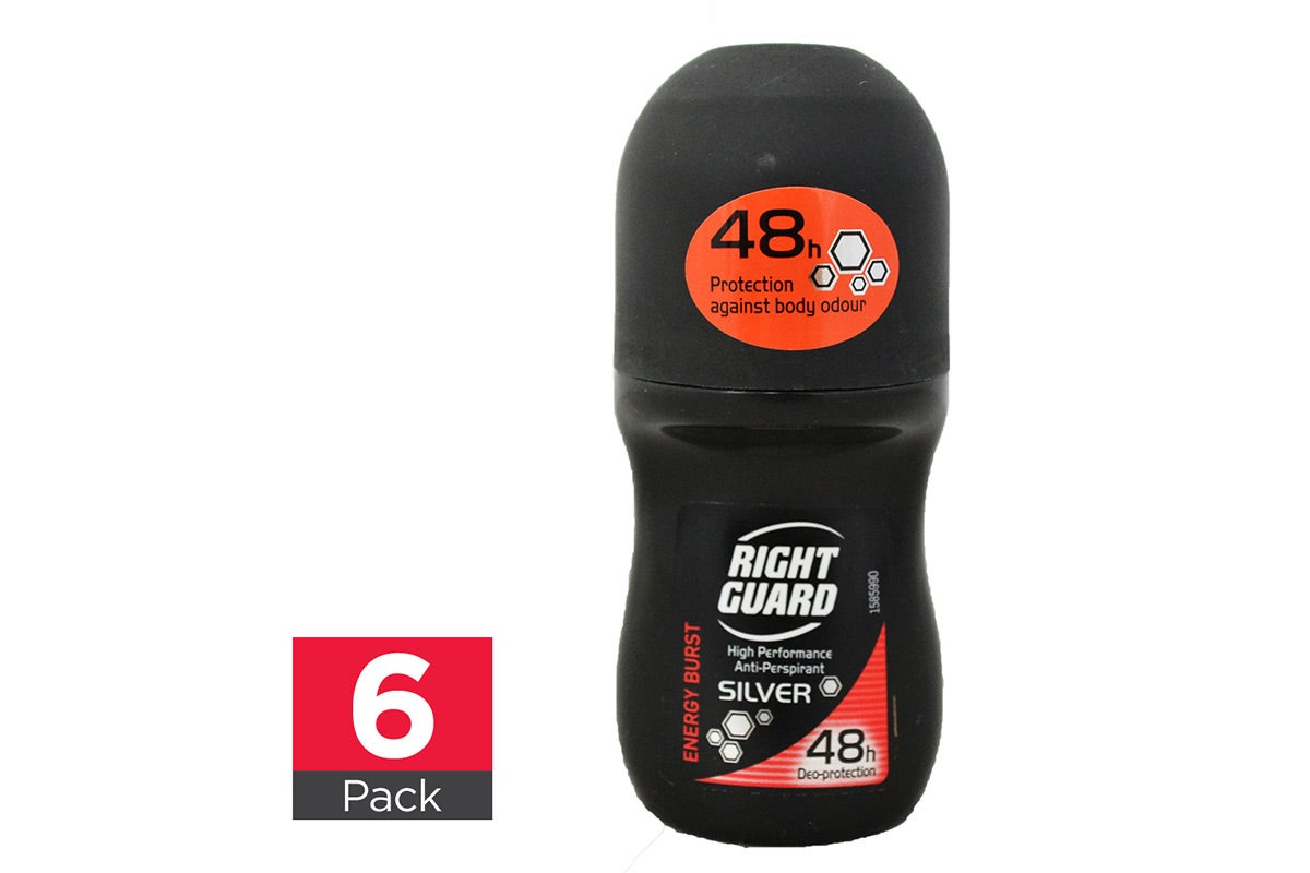 6x Right Guard Energy Burst Roll On 50mL