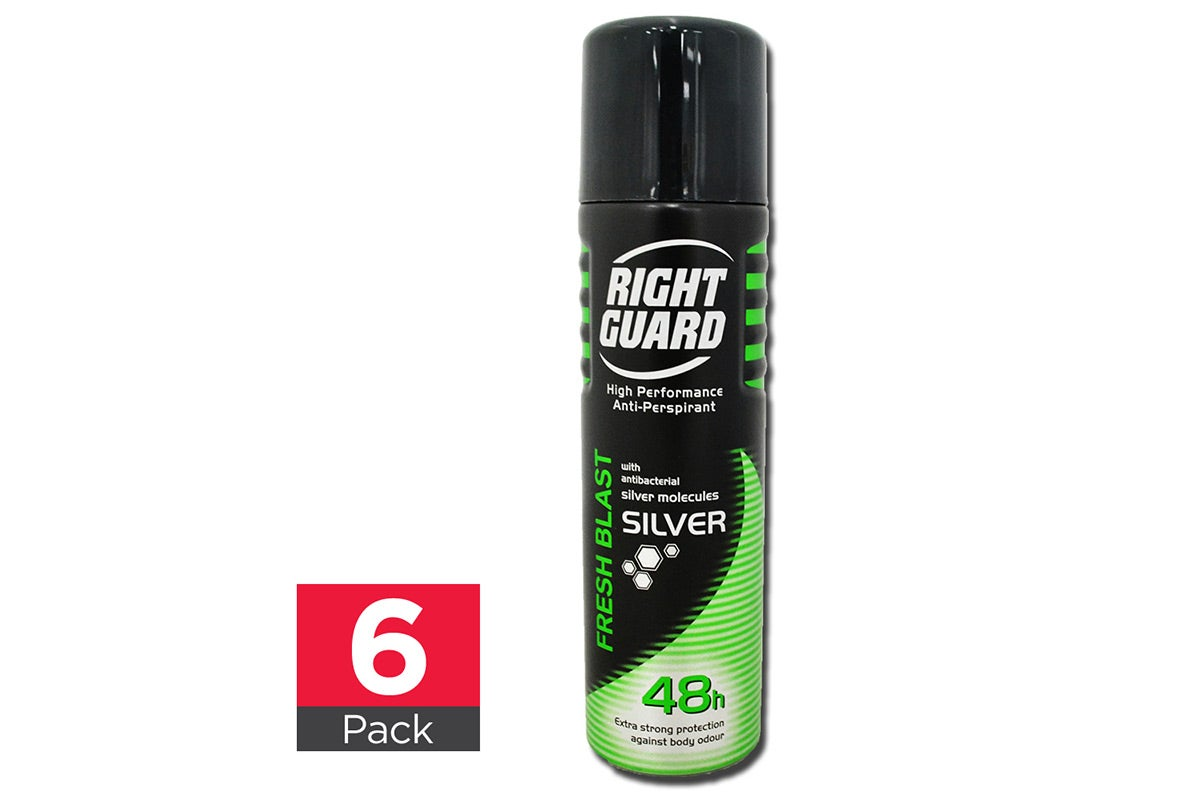 6x Right guard Fresh Blast Spray 150mL