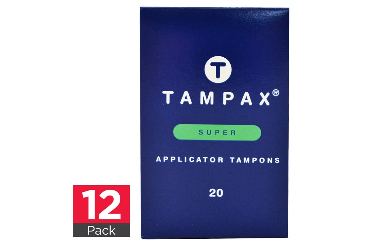 12x Tampax Applicator Tampons Super 20pk