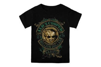 Alice Cooper Toddler T Shirt Black Billion Dollar Babies Official 3-24months