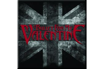 Bullet For My Valentine Fridge Magnet UK Flag band logo new Official 76mm x 76mm