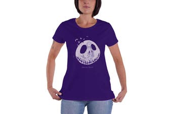 The Nightmare Before Christmas T Shirt Seriously Spooky Official Womens Purple