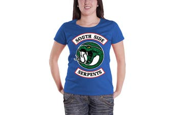 Riverdale T Shirt South Side Serpents Logo new Official Womens Skinny Fit Blue