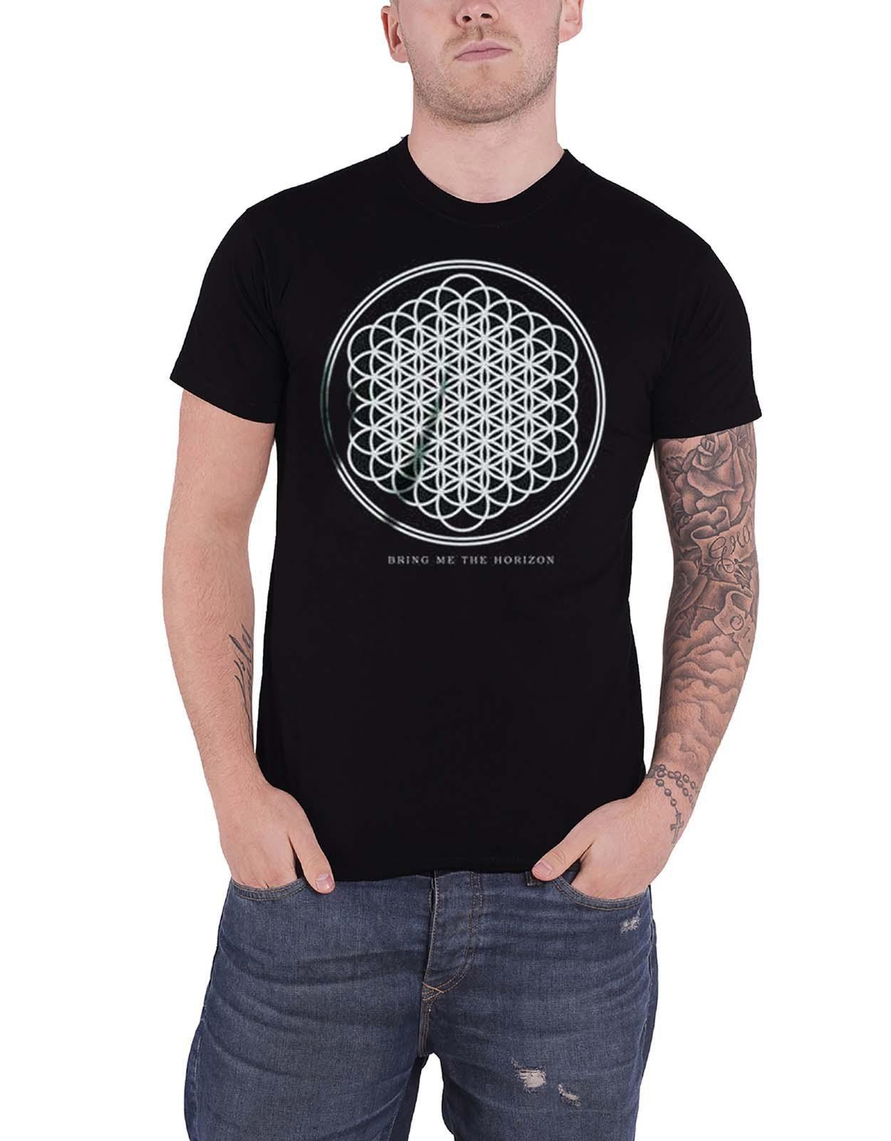 Bring Me The Horizon T Shirt Sempiternal Band Logo new Official Mens Black