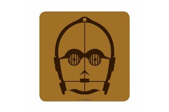 Star Wars Coaster C3PO Face Droid Last Jedi new Official Brown