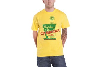 Dead Kennedys T Shirt Holiday in Cambodia Band Logo new Official Mens Yellow