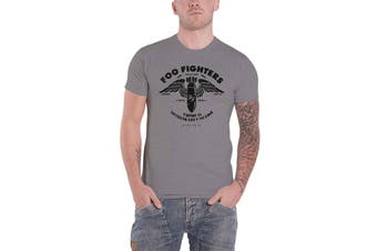 Foo Fighters T Shirt Nothing left to Lose Stencil Band Logo Official Mens Grey