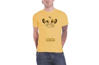Lion King T Shirt Simba Face new Official Disney Mens Yellow