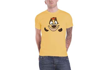 Lion King T Shirt Timon Face new Official Disney Mens Yellow